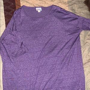 Lularoe purple striped top